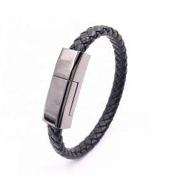 Зарядка через USB из натуральной кожи данные провод зарядки телефона браслет