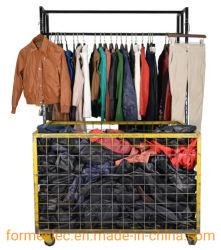 Fashion manteau utilisé PU veste en cuir de vêtements de seconde main pantalon de cuir des balles