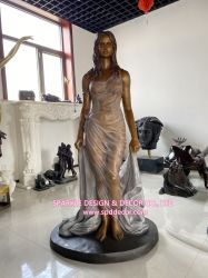 Fabricante china de la vida personalizada personalizada estatua de bronce de tamaño dama