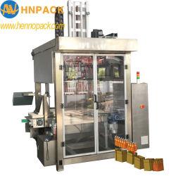 Selección automática de la parte superior y el lugar en el embalaje de cartón Máquina de embalaje para la industria farmacéutica de la infusión de botellas