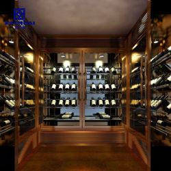 Heißer Verkauf kundenspezifische Edelstahl-Wand-Wein-Speicher-Zahnstange