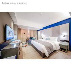 أثاث غرف النوم المخصصة من Melamine Laminated Hotel مع لوح خشبي مصنوع من خشب الرقائقي