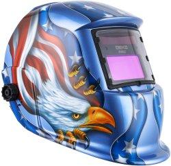 Прямых продаж на заводе солнечной автоматическая сварка маска Head-Mounted переменной световой барьер шлем с защитной сварки шлем