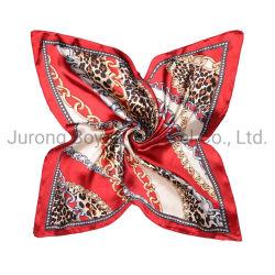 De Europese Amerikaanse HoofdSjaals van het Satijn van de Dames van de Sjaal van de Hals van de Vrouwen van de Manier Vierkante Elegante