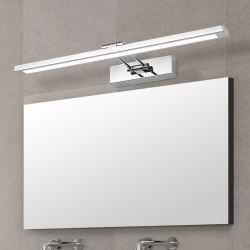 Specchio luce LED bagno parete luce specchio vetro impermeabile anti-nebbia Lampada LED per cabinet in acciaio inox Brief moderno (WH-MR-39)