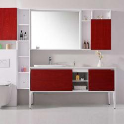 Salle de bains européenne armoire en bois massif combinaison jeu de la salle de bains rouge grenat
