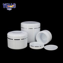 L'emballage plastique cosmétique cosmétiques personnalisée des pots de crème avec cuillère