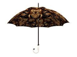 Or ornement floral Stick / parapluie droites