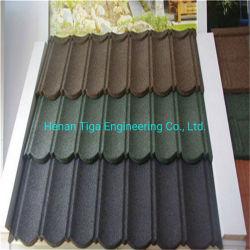 나이지리아용 0.45mm Stone Chip Coated Metal 지붕판
