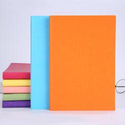 PU Lederen omslag aangepast logo A5 Office Business Note Book