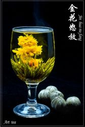 Handgemachtes Idible blüht künstlerischen Tee, Blüten-Tee, blühender Tee, blühende Tee-Kugeln, Kräutertee