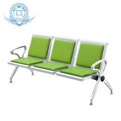 Muebles modernos de acero de 3 plazas de hospital de la Oficina del banco del aeropuerto de sala de espera de la estación de enlace público silla silla Asientos