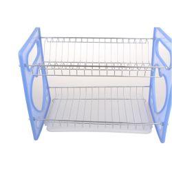 2 van het Metaal van de Draad van de Keuken lagen Raad van het Druiprek van de Plastic