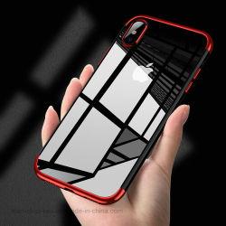 علبة هاتف شفافة من البولي يورثان المتلدن بالحرارة (TPU) مع فتحات بطاقات لهاتف iPhone 5s SE 6 6s 6s Plus 7 7زائد 8 8 زائد x