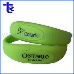 Pulseira de PVC borracha personalizada Caneta Bracelete Unidade Flash USB