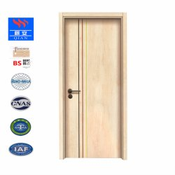 Moldada de elevada qualidade MDF/HDF melamina revestido de PVC de porta a porta de madeira