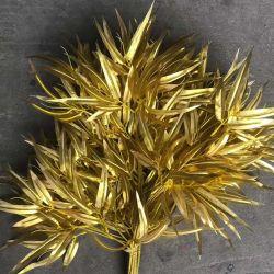 装飾のための卸し売りプラスチック金人工的なタケの葉