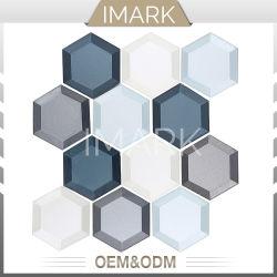 Hexagon-Glasmosaik für Bodenbelag-Wand deckt Baumaterial mit Ziegeln
