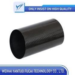 Hochwertige Kohlenstoff-Faser-abgeschrägte Rohr-/Carbon-Faser-Gefäß-/Kohlenstoff-Faser für Dekoration-Gefäß