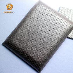 Couro de tecido de fibra de espuma de melamina Polyetser Core Painel acústico decoração para/de cinema em casa