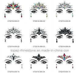 De Meermin van vrouwen ijlt Festival schittert Stickers van het Gezicht van de Kristallen van de Juwelen van het Gezicht van de Tatoegering van het Bergkristal de Tijdelijke (S026)