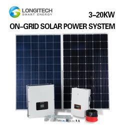 홈 다기능 지붕 그리드 전기에 장착 전체 18kW AC 태양열 발전 시스템