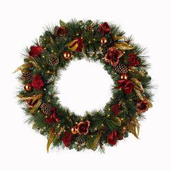 40cm grinaldas de Natal com grinaldas Pinha Mall cena os fabricantes de Layout Direct Decorações de Natal