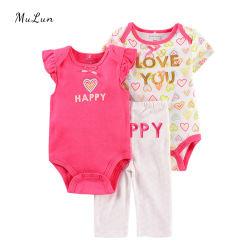 卸し売り夏セット2部分の女の赤ちゃんのジャンプスーツのロンパース