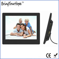 Nuevo diseño de 8 pulgadas Digital Photo Frame en plástico (XH-DPF-080C)