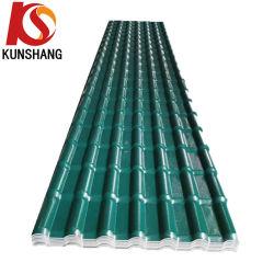 Kunshang feuerfeste grüne Farbe ASA spanische Belüftung-Dach-Fliese/Tejas