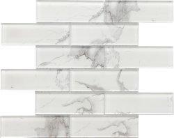 mosaico di vetro delle mattonelle del sottopassaggio della parete della stanza da bagno di colore di bianco di 48X148mm