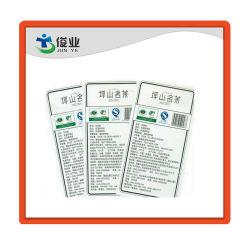 Embalaje personalizado famoso té fuerte pegatinas adhesivas