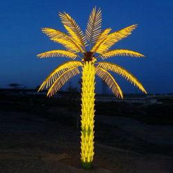 정원 훈장을%s 인공적인 코코야자 나무가 최신 인기 상품에 의하여 LED 점화한다