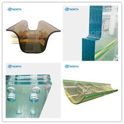 6.38мм PVB сторожевого глас плюс Sgp 3 4 слоя плоской кривой и увеличенного размера Jumbo полированной кромки тонированный цвета Clear многослойное безопасное стекло поставщиком завода изготовителя