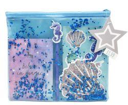 Lindo personalizado pegatina portátil y etiqueta en la bolsa de regalo con cremallera estacionarios para suministro de regalo