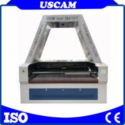 Gravure van de Laser van de Lage Prijs van China de Industriële en het Geweven Etiket die van de Snijder Machine de Textiel Scherpe Machine van de Laser van Co2 van de Kleding van Leer 1610 voor voor Kleding snijden