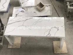 Calacatta weißer Quarz-Stein für Küche-Oberseite