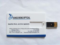 Topfine USB 섬광은 신용 카드 도매 1GB 4GB 8GB 16GB 32GB 64GB 128GB를 몬다