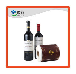 Custom Adhesive Clear Wine Logo Label Stickers Printing