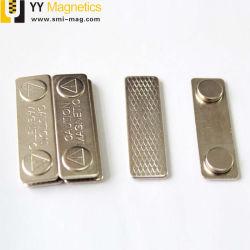 De zilveren Klemmen van het Kenteken van de Naam van het Metaal Magnetische