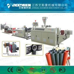 Haut de la qualité PE PP PVC à double paroi simple tuyau ondulé rendant la ligne de production de machines avec certificat CE