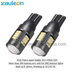 T10 W5w LED 차 전구가 고수준 LED 자동 내부에 의하여 점화한다