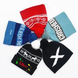 L'hiver de haute qualité 100% acrylique Brassard tricotés fan de football personnalisés Beanie chapeaux
