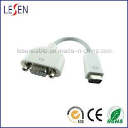 Mini Mannetje DVI aan VGA Vrouwelijke Kabel