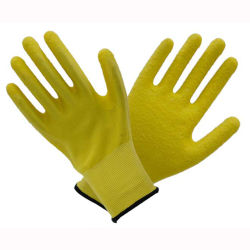 (LG-012) 13t de Latex Met een laag bedekte Handschoenen van het Werk van de Veiligheid van de Arbeid Beschermende