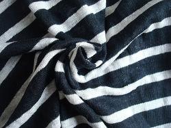 Linnen garen Dyed Stripe Single Jersey voor Lady's Garment gebruik
