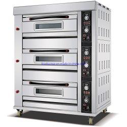 Профессиональные промышленные печи для выпечки хлеба газа 3 дека 9 лотка для бумаги коммерческих банков печи
