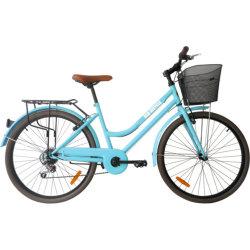 Bici urbana dell'annata dell'Olanda di modo del classico 7 della bici poco costosa di velocità 700c 24/26 di pollice Bafang ultra sulla bici della città con il cestino nuovo per le signore/donne/adulto