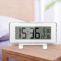 Amazon Hot Selling Design Groot LCD-scherm digitale alarmtijd Klok met de functies Calendar Snooze en Temperature