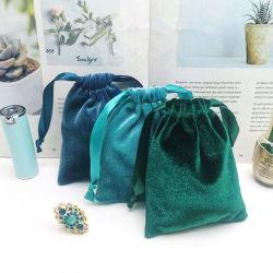 Alta Qualidade o logotipo personalizado impresso Rosa Cordão jóias de Cosméticos Dom Bag Bolsa de veludo